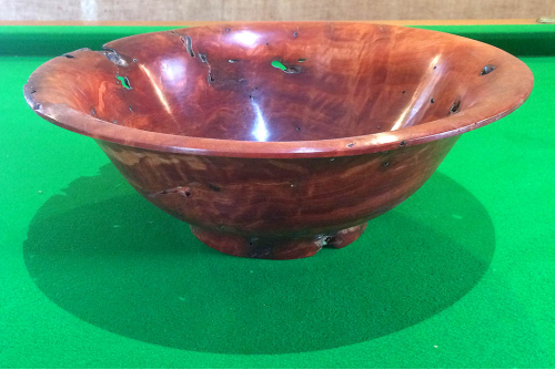 Decorative Red Gum High Sided Fruit Bowl